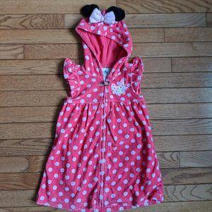 Disney Store Minnie Mouse Bath Robe Swim Cover